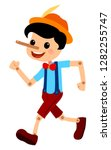 pinocchio tale vectoral... | Shutterstock .eps vector #1282255747