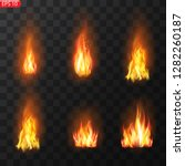 realistic burning fire flames... | Shutterstock .eps vector #1282260187