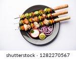 chicken hariyali kakab or malai ... | Shutterstock . vector #1282270567