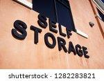 self storage sign on building   ...   Shutterstock . vector #1282283821