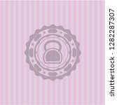 kettlebell icon inside pink... | Shutterstock .eps vector #1282287307