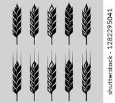 wheat ears icon set for natural ... | Shutterstock .eps vector #1282295041
