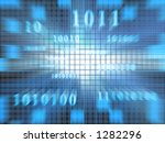binary code in a fast zoom of... | Shutterstock . vector #1282296