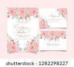 floral wedding invitation with... | Shutterstock .eps vector #1282298227