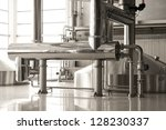 interior of modern brewery | Shutterstock . vector #128230337