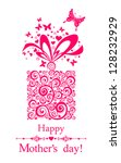happy mother's day  greeting... | Shutterstock .eps vector #128232929