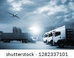 transportation  import export ... | Shutterstock . vector #1282337101