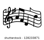 music staff   retro clipart... | Shutterstock .eps vector #128233871