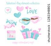 valentine's day elements... | Shutterstock .eps vector #1282348801