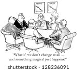 """""""what if we don't change at all ...   Shutterstock . vector #128236091"""