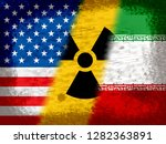 iran nuclear deal flags  ... | Shutterstock . vector #1282363891
