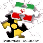 iran nuclear deal negotiation... | Shutterstock . vector #1282364224