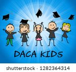 daca kids dreamer legislation... | Shutterstock . vector #1282364314