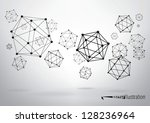 composition of wireframe... | Shutterstock .eps vector #128236964