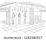 shopping mall graphic black... | Shutterstock .eps vector #1282380517