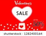 valentine day sale banner with... | Shutterstock . vector #1282400164