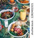 falafel salad with vegetables   Shutterstock . vector #1282402321