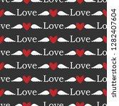 valentine's day seamless... | Shutterstock .eps vector #1282407604
