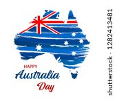happy australia day. map of... | Shutterstock .eps vector #1282413481