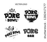 poke bowl logo  icons and...   Shutterstock .eps vector #1282417177