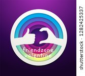 a friend zone sign from a hand... | Shutterstock .eps vector #1282425337