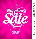 valentine's day sale banner ... | Shutterstock . vector #1282426774