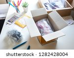 online shopping concepts with... | Shutterstock . vector #1282428004