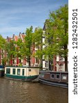 amsterdam   july 10  canals of... | Shutterstock . vector #1282432501