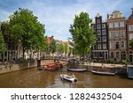 amsterdam   july 10  canals of... | Shutterstock . vector #1282432504