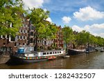 amsterdam   july 10  canals of... | Shutterstock . vector #1282432507