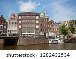 amsterdam   july 10  canals of... | Shutterstock . vector #1282432534