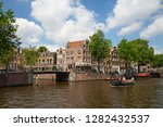 amsterdam   july 10  canals of... | Shutterstock . vector #1282432537