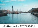 port of barcelona  spain.... | Shutterstock . vector #1282451431