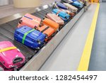 bright colorful suitcases and... | Shutterstock . vector #1282454497