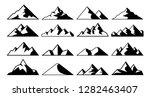 mountain peak icon. tibet... | Shutterstock .eps vector #1282463407