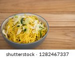 top view close up bowl of... | Shutterstock . vector #1282467337