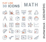 set of vector line icons of... | Shutterstock .eps vector #1282469341