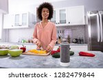 wireless speaker in front of... | Shutterstock . vector #1282479844
