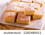 coconut tray bake  sliced on...   Shutterstock . vector #1282480411