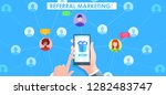 referral marketing banner. hand ... | Shutterstock .eps vector #1282483747