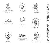 a set of nine modern and...   Shutterstock .eps vector #1282485241