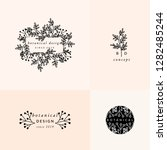 a set of four modern and...   Shutterstock .eps vector #1282485244