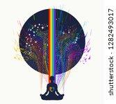yoga and meditation tattoo art. ... | Shutterstock .eps vector #1282493017