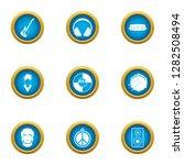 music threat icons set. flat... | Shutterstock . vector #1282508494