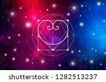 romantic space valentine's day... | Shutterstock . vector #1282513237