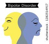 mood disorder. split... | Shutterstock .eps vector #1282514917