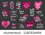 valentine's day hand lettered... | Shutterstock .eps vector #1282526404