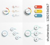 set abstract elements of graph... | Shutterstock .eps vector #1282536067