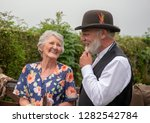 senior male and female in 1940s ... | Shutterstock . vector #1282542784