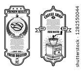 vintage coffee shop flyer... | Shutterstock .eps vector #1282550044